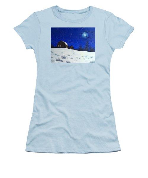 Evening Chores Women's T-Shirt (Junior Cut) by Brenda Bonfield