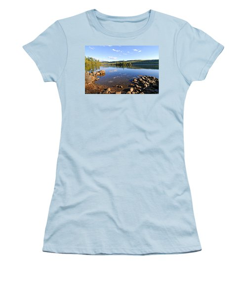 Evening On Cedar Lagoon Pine Lake Women's T-Shirt (Junior Cut) by Larry Ricker