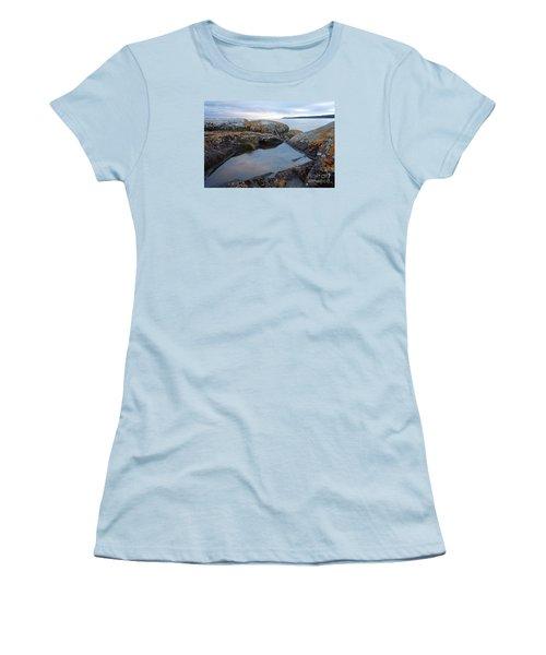 Women's T-Shirt (Junior Cut) featuring the photograph Evening Reflections by Sandra Updyke