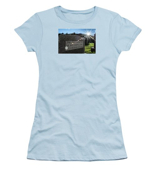 Examined Life Color Women's T-Shirt (Athletic Fit)