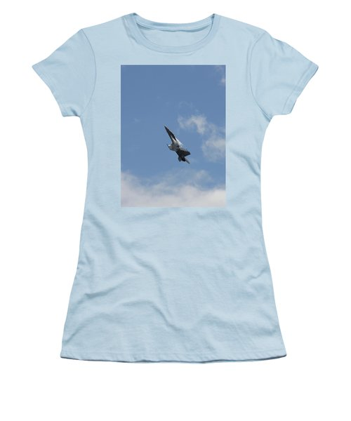 Women's T-Shirt (Athletic Fit) featuring the photograph F/a-18 Fighter Fast Climb by Aaron Berg