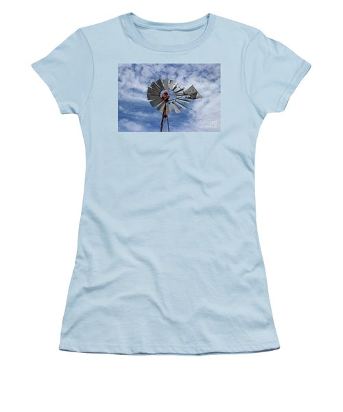Facing Into The Breeze Women's T-Shirt (Junior Cut) by Stephen Mitchell