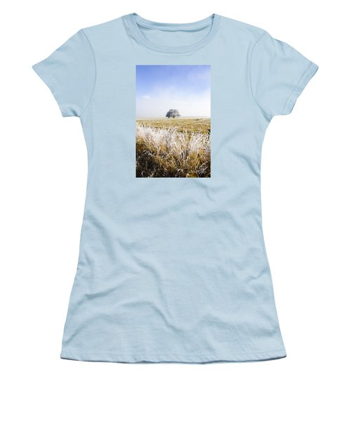 Women's T-Shirt (Athletic Fit) featuring the photograph Fairytale Winter In Fingal by Jorgo Photography - Wall Art Gallery
