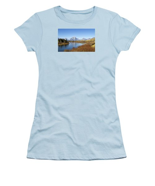 Women's T-Shirt (Junior Cut) featuring the photograph Fall At Teton -2 by Shirley Mitchell