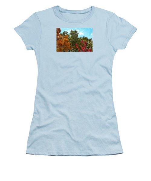 Women's T-Shirt (Junior Cut) featuring the photograph Fall Colors by Nikki McInnes