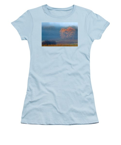Falltime In The Meadow Women's T-Shirt (Athletic Fit)
