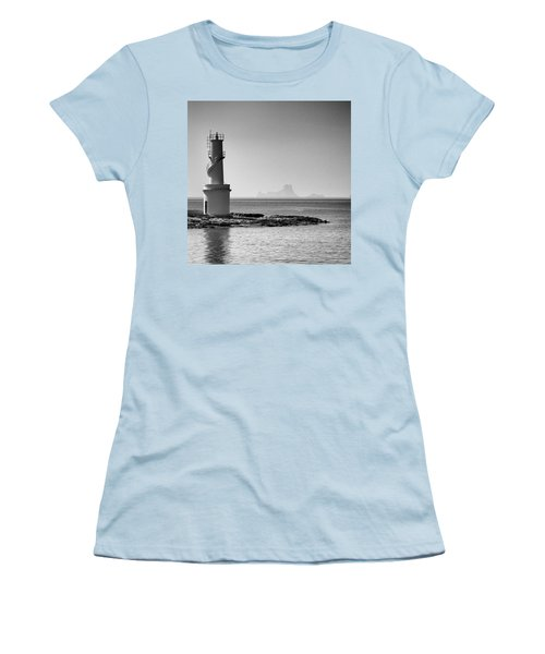 Far De La Savina Lighthouse, Formentera Women's T-Shirt (Junior Cut) by John Edwards