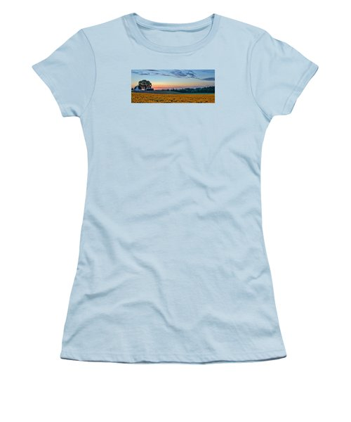 Farmhouse Among The Wallflowers Women's T-Shirt (Athletic Fit)