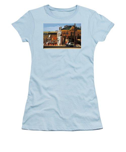Fat Daddy's Women's T-Shirt (Junior Cut) by David Blank