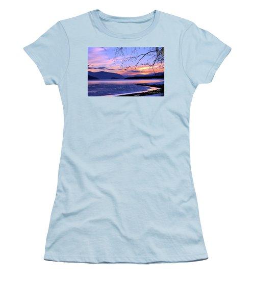 February Sunset 2 Women's T-Shirt (Junior Cut) by Victor K