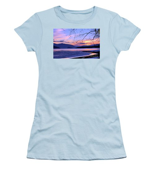 February Sunset 2 Women's T-Shirt (Athletic Fit)