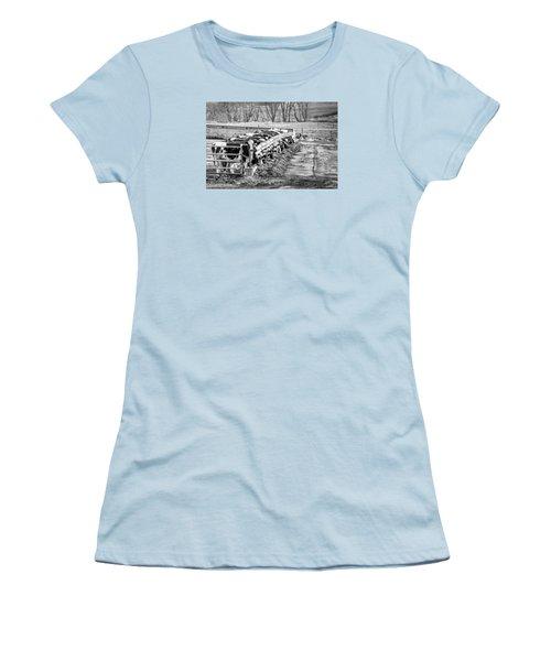 Women's T-Shirt (Junior Cut) featuring the photograph Feedlot by Dan Traun