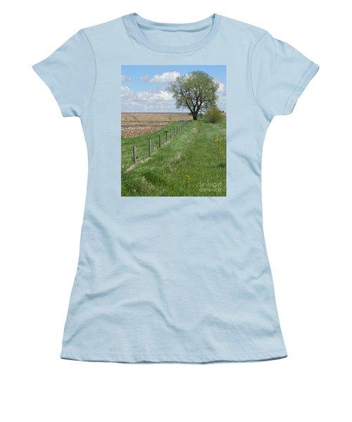 Fence Line Women's T-Shirt (Junior Cut) by Renie Rutten