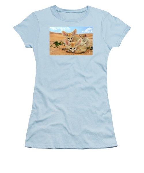 Fennec Foxes Women's T-Shirt (Athletic Fit)