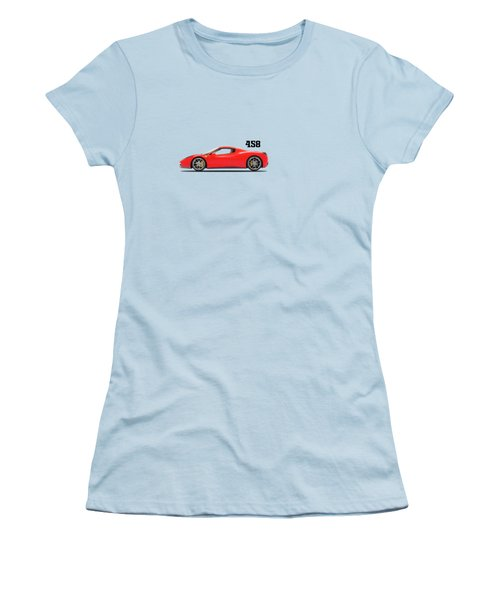 Ferrari 458 Italia Women's T-Shirt (Junior Cut) by Mark Rogan