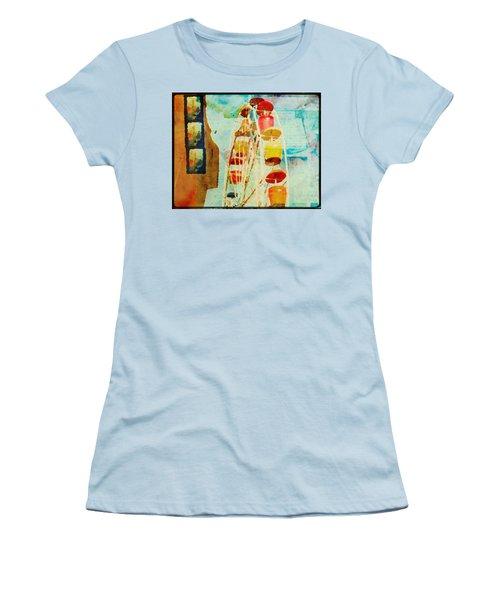 Ferris Wheel Fun Women's T-Shirt (Junior Cut) by Toni Hopper