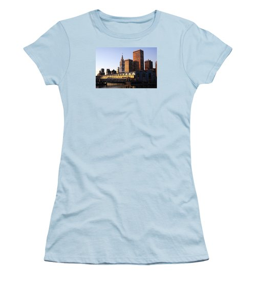 Ferry Building And San Francisco Women's T-Shirt (Junior Cut)