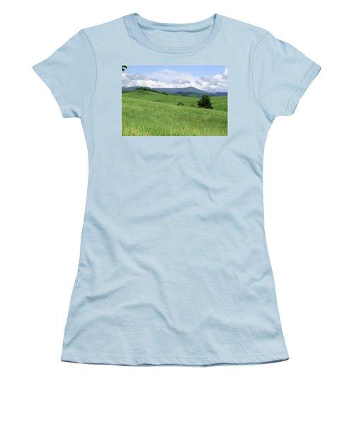 Fields And Hills  Women's T-Shirt (Junior Cut) by Emanuel Tanjala