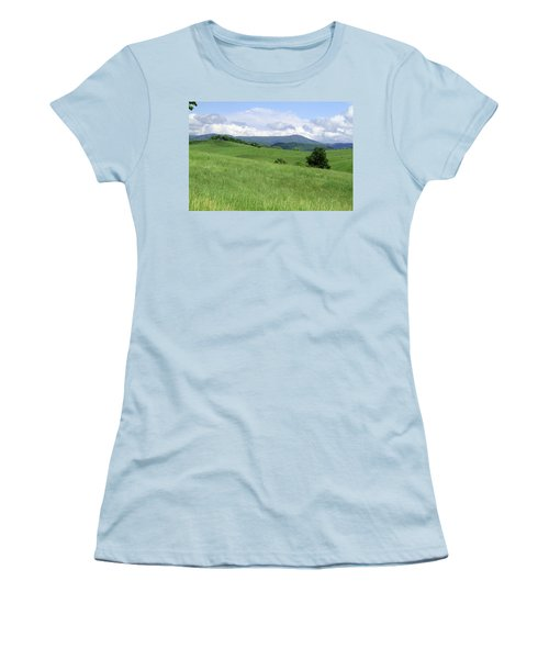 Fields And Hills  Women's T-Shirt (Athletic Fit)