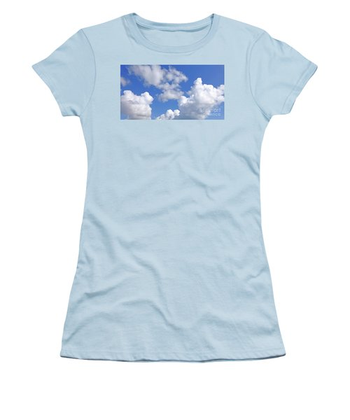 Women's T-Shirt (Athletic Fit) featuring the digital art Finding Focus Sky by Francesca Mackenney