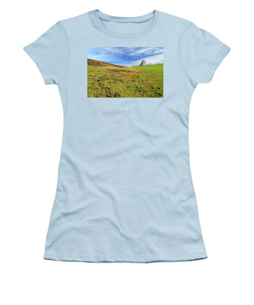 Women's T-Shirt (Junior Cut) featuring the photograph First Flowers On North Table Mountain by James Eddy