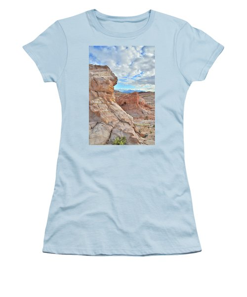 First Light On Valley Of Fire Women's T-Shirt (Junior Cut) by Ray Mathis