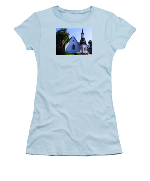 Women's T-Shirt (Junior Cut) featuring the photograph First Presbyterian Church by Laura Ragland