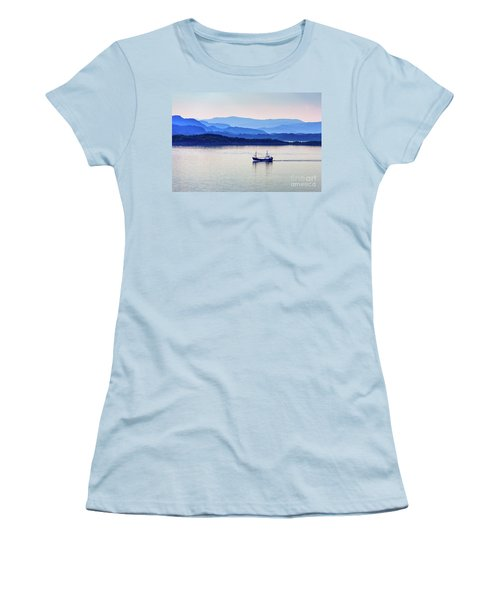 Fishing Boat At Dawn Women's T-Shirt (Athletic Fit)