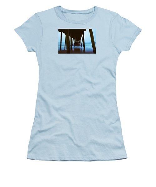Fishing Pier Women's T-Shirt (Junior Cut) by Scott Meyer