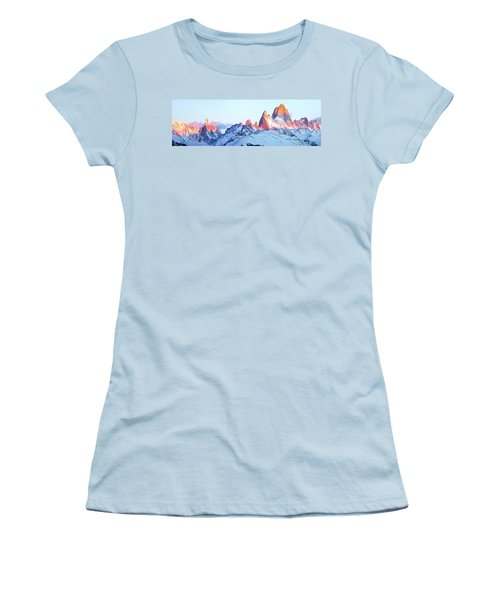 Women's T-Shirt (Junior Cut) featuring the photograph Fitz Roy Peak by Phyllis Peterson