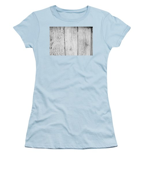 Women's T-Shirt (Junior Cut) featuring the photograph Flaking Grey Wood Paint by John Williams
