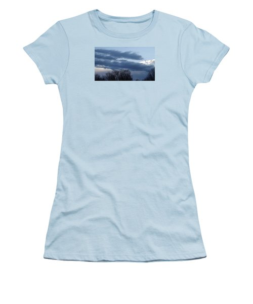 Women's T-Shirt (Junior Cut) featuring the photograph Floating Blue Clouds by Don Koester