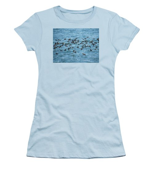 Flock Of Birds Women's T-Shirt (Athletic Fit)