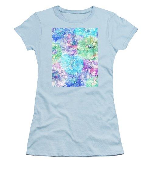 Floral Fantasy Women's T-Shirt (Athletic Fit)