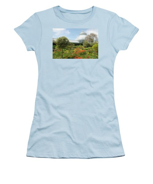 Women's T-Shirt (Junior Cut) featuring the photograph Floral Notes by Diana Angstadt