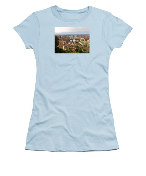 Women's T-Shirt (Junior Cut) featuring the photograph Florence Bridges by Haleh Mahbod