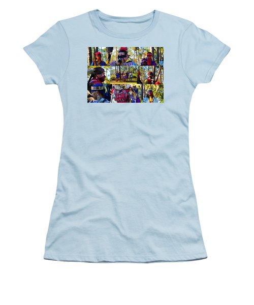 Women's T-Shirt (Junior Cut) featuring the photograph Florida Seminole Indian Warriors Circa 1800s by David Lee Thompson