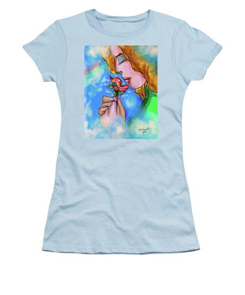 Flower Power Women's T-Shirt (Junior Cut) by Ted Azriel