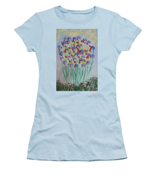 Flower Twists Women's T-Shirt (Junior Cut) by Barbara Yearty