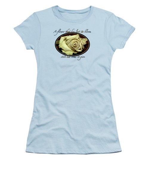 Flower Wisdom Women's T-Shirt (Junior Cut) by Phyllis Denton