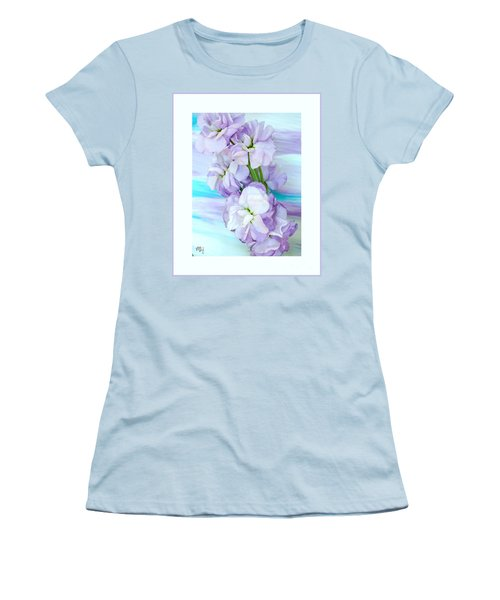 Fluffy Flowers Women's T-Shirt (Athletic Fit)