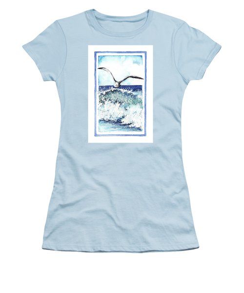 Women's T-Shirt (Junior Cut) featuring the painting Fly High by Heidi Kriel
