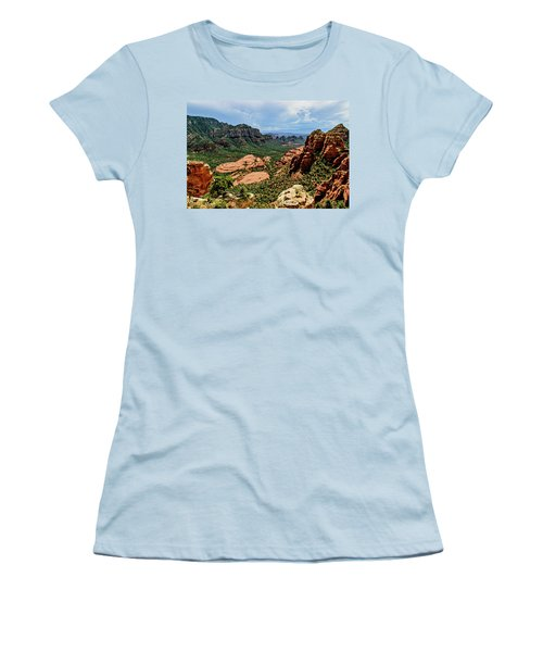 Flying Buttress 04-097 Women's T-Shirt (Junior Cut) by Scott McAllister