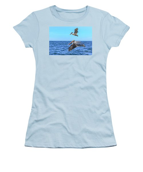 Flying Pair Women's T-Shirt (Junior Cut) by Robert Bales