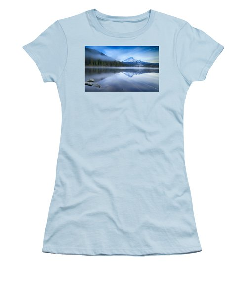 Fog And The Lake Women's T-Shirt (Athletic Fit)