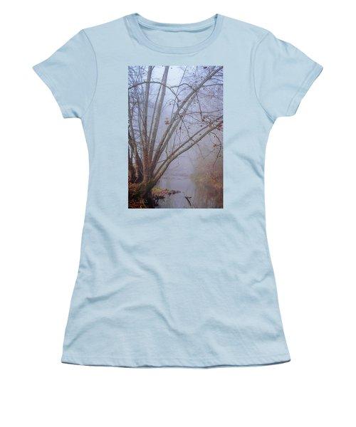 Fog On Buffalo Creek 1 Women's T-Shirt (Athletic Fit)