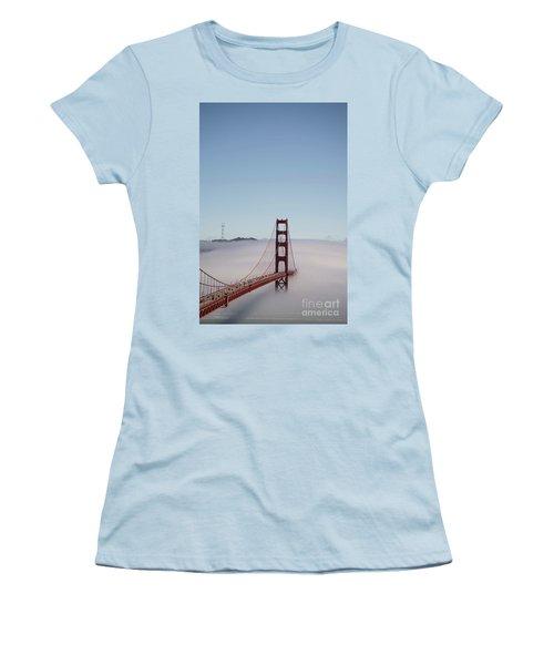 Women's T-Shirt (Junior Cut) featuring the photograph Foggy Golden Gate by David Bearden
