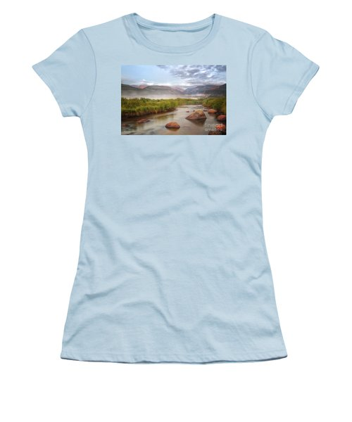 Foggy Morning In Moraine Park Women's T-Shirt (Junior Cut) by Ronda Kimbrow