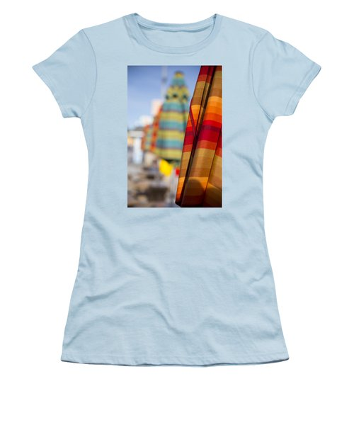 Women's T-Shirt (Athletic Fit) featuring the photograph Folded by Lora Lee Chapman