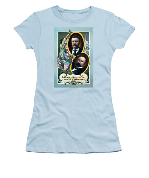 For President - Theodore Roosevelt And For Vice President - Charles W Fairbanks Women's T-Shirt (Junior Cut) by International  Images